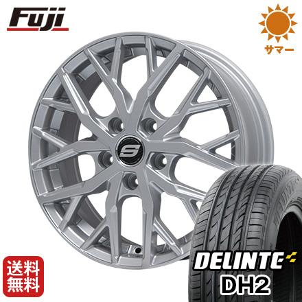 今がお得! 送料無料 225/55R18 18インチ サマータイヤ ホイール4本セット BRANDLE ブランドル TM20 7.5J 7.50-18 DELINTE デリンテ DH2(限定)