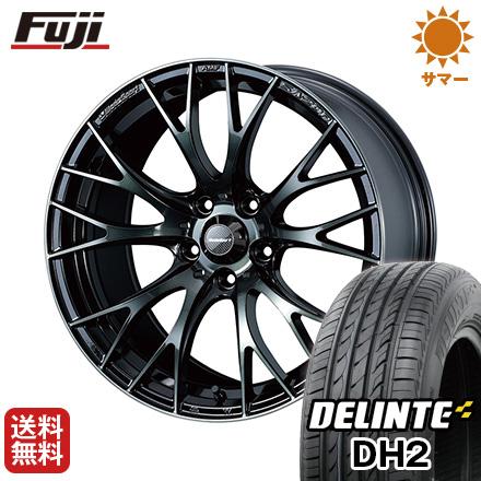今がお得! 送料無料 225/55R18 18インチ サマータイヤ ホイール4本セット WEDS ウェッズスポーツ SA-20R 7.5J 7.50-18 DELINTE デリンテ DH2(限定)