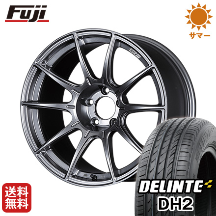今がお得! 送料無料 235/45R18 18インチ サマータイヤ ホイール4本セット SSR GTX01 7.5J 7.50-18 DELINTE デリンテ DH2(限定)