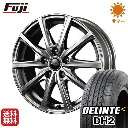 【取付対象】 送料無料 215/35R18 18インチ サマータイヤ ホイール4本セット MID ユーロスピード V25 7.5J 7.50-18 DELINTE デリンテ DH2(限定)
