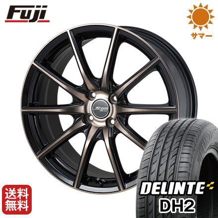 今がお得! 送料無料 185/65R15 15インチ サマータイヤ ホイール4本セット MONZA モンツァ Rバージョンスプリント 5.5J 5.50-15 DELINTE デリンテ DH2(限定)
