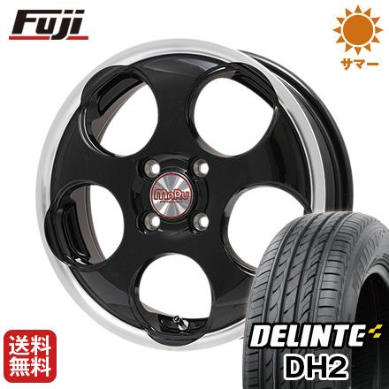 今がお得! 送料無料 165/50R15 15インチ サマータイヤ ホイール4本セット PREMIX プレミックス マル(ブラック/リムポリッシュ) 4.5J 4.50-15 DELINTE デリンテ DH2(限定)