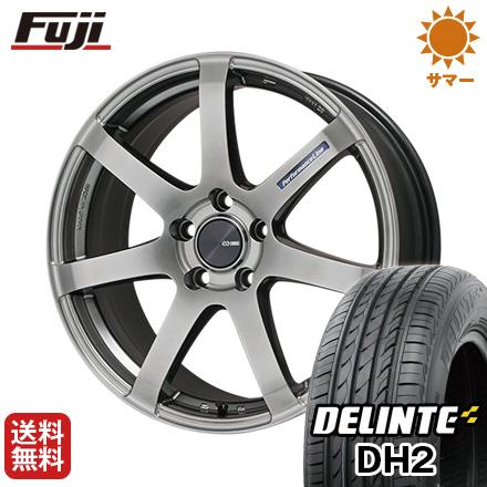 今がお得! 送料無料 225/55R18 18インチ サマータイヤ ホイール4本セット ENKEI エンケイ PF07 7.5J 7.50-18 DELINTE デリンテ DH2(限定)
