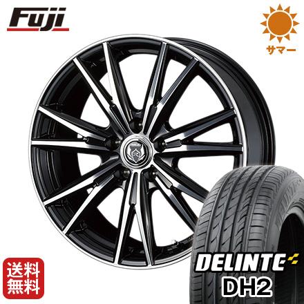 今がお得! 送料無料 225/45R18 18インチ サマータイヤ ホイール4本セット WEDS ウェッズ ライツレー DK 7.5J 7.50-18 DELINTE デリンテ DH2(限定)