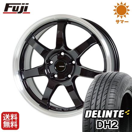 今がお得! 送料無料 235/50R18 18インチ サマータイヤ ホイール4本セット HOT STUFF ホットスタッフ ジースピード P-03 7.5J 7.50-18 DELINTE デリンテ DH2(限定)