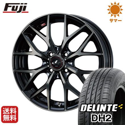 今がお得! 送料無料 185/65R14 14インチ サマータイヤ ホイール4本セット WEDS ウェッズ レオニス MX 5.5J 5.50-14 DELINTE デリンテ DH2(限定)