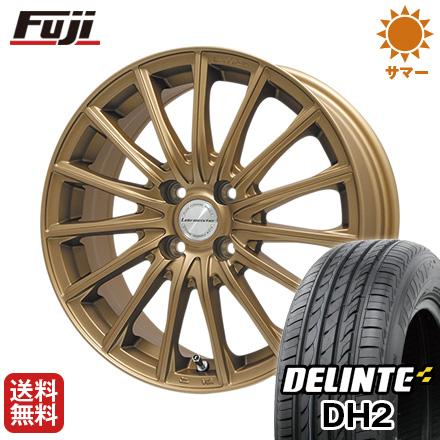 今がお得! 送料無料 165/55R15 15インチ サマータイヤ ホイール4本セット LEHRMEISTER LM-S FS15 (ブロンズ) 4.5J 4.50-15 DELINTE デリンテ DH2(限定)