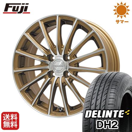 今がお得! 送料無料 165/50R15 15インチ サマータイヤ ホイール4本セット LEHRMEISTER LM-S FS15 (ブロンズポリッシュ) 4.5J 4.50-15 DELINTE デリンテ DH2(限定)