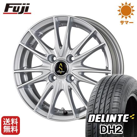今がお得! 送料無料 155/65R14 14インチ サマータイヤ ホイール4本セット WORK ワーク セプティモ G02 シルバーメタリック 4.5J 4.50-14 DELINTE デリンテ DH2(限定)