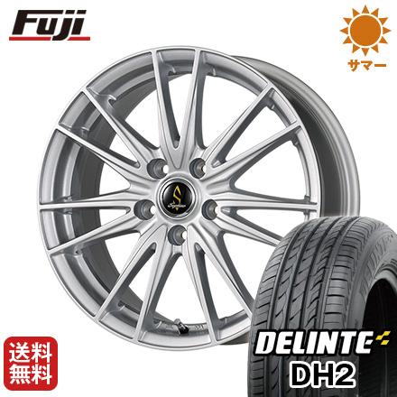 今がお得! 送料無料 205/55R16 16インチ サマータイヤ ホイール4本セット WORK ワーク セプティモ G02 シルバーメタリック 6.5J 6.50-16 DELINTE デリンテ DH2(限定)