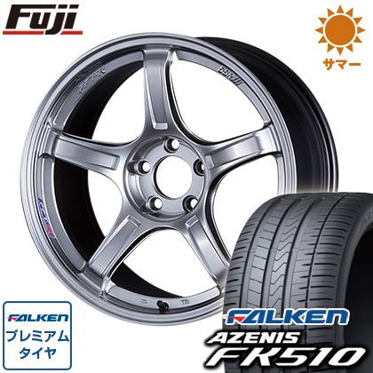 今がお得! 送料無料 225/40R18 18インチ サマータイヤ ホイール4本セット SSR GTX03 7.5J 7.50-18 FALKEN アゼニス FK510