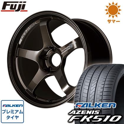 今がお得! 送料無料 225/40R18 18インチ サマータイヤ ホイール4本セット YOKOHAMA ヨコハマ アドバンレーシング GT プレミアムバージョン 8J 8.00-18 FALKEN アゼニス FK510