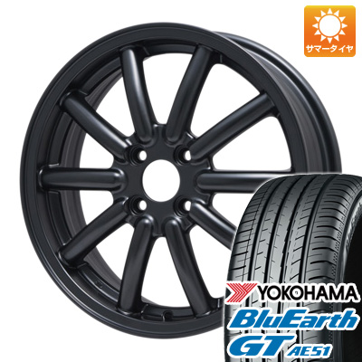 今がお得! 送料無料 155/65R14 14インチ サマータイヤ ホイール4本セット ALGERNON アルジェノン フェニーチェ RX-1 4.5J 4.50-14 YOKOHAMA ブルーアース GT AE51