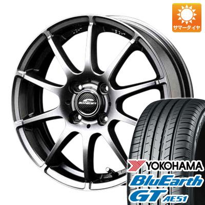 今がお得! 送料無料 175/65R15 15インチ サマータイヤ ホイール4本セット MID シュナイダー スタッグ 5.5J 5.50-15 YOKOHAMA ブルーアース GT AE51