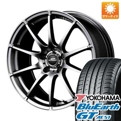 今がお得! 送料無料 205/55R16 16インチ サマータイヤ ホイール4本セット MID シュナイダー スタッグ 6.5J 6.50-16 YOKOHAMA ブルーアース GT AE51