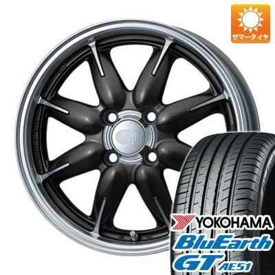 今がお得! 送料無料 165/55R15 15インチ サマータイヤ ホイール4本セット ENKEI エンケイ allシリーズ オールワン 5J 5.00-15 YOKOHAMA ブルーアース GT AE51