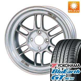 今がお得! 送料無料 205/65R16 16インチ サマータイヤ ホイール4本セット ENKEI エンケイ RP-F1 7J 7.00-16 YOKOHAMA ブルーアース GT AE51