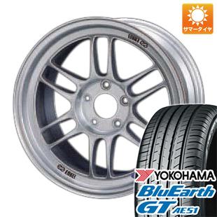 今がお得! 送料無料 215/45R17 17インチ サマータイヤ ホイール4本セット ENKEI エンケイ RP-F1 7.5J 7.50-17 YOKOHAMA ブルーアース GT AE51