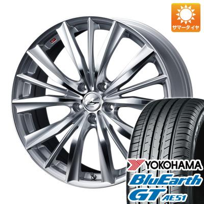 今がお得 送料無料 225 45R19 19インチ サマータイヤ ホイール4本セット WEDS ウェッズ レオニス VX 7.5J 7.50-19 YOKOHAMA ブルーアース GT AE51