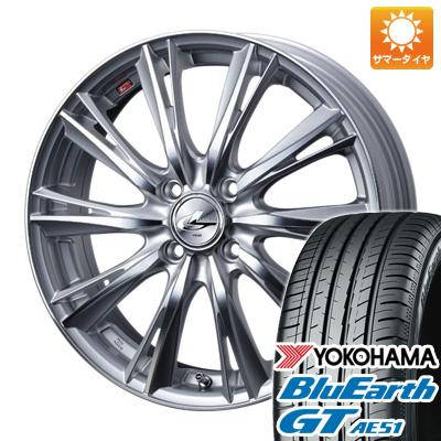 今がお得! 送料無料 185/55R15 15インチ サマータイヤ ホイール4本セット WEDS ウェッズ レオニス WX 5.5J 5.50-15 YOKOHAMA ブルーアース GT AE51
