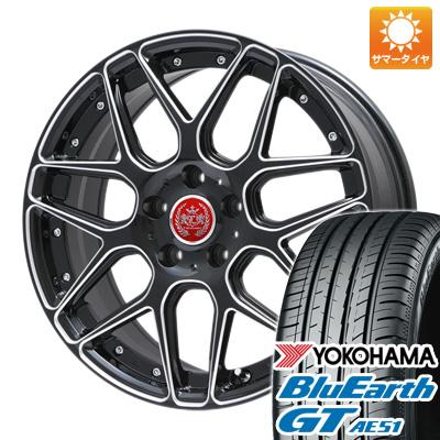 今がお得! 送料無料 215/40R18 18インチ サマータイヤ ホイール4本セット LEHRMEISTER レアマイスター ドレスデン ブラックエッジブラッシュド 限定 7.5J 7.50-18 YOKOHAMA ブルーアース GT AE51