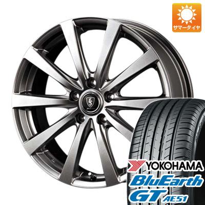 今がお得! 送料無料 215/65R16 16インチ サマータイヤ ホイール4本セット MID ユーロスピード G10 6.5J 6.50-16 YOKOHAMA ブルーアース GT AE51