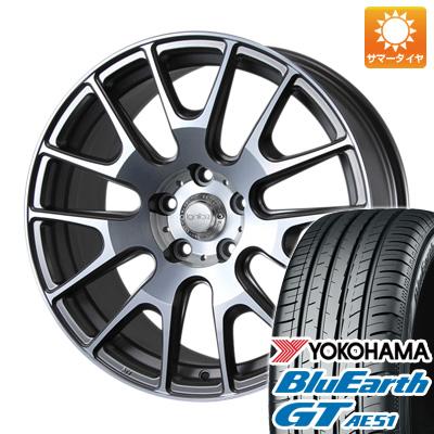 今がお得! 送料無料 225/45R18 18インチ サマータイヤ ホイール4本セット MLJ イグナイト エクストラック 7.5J 7.50-18 YOKOHAMA ブルーアース GT AE51