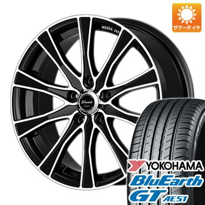 今がお得! 送料無料 225/50R17 17インチ サマータイヤ ホイール4本セット MONZA モンツァ ワーウィック カロッツァ 7J 7.00-17 YOKOHAMA ブルーアース GT AE51