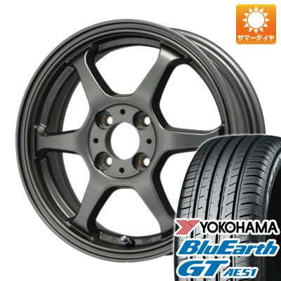 今がお得! 送料無料 155/65R14 14インチ サマータイヤ ホイール4本セット LEHRMEISTER リアルスポーツ カリスマVS6 5J 5.00-14 YOKOHAMA ブルーアース GT AE51