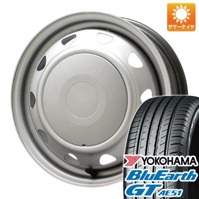 【送料無料】 195/65R15 15インチ ELBE エルベ オリジナル スチール 5.5J 5.50-15 YOKOHAMA ヨコハマ ブルーアース GT AE51 サマータイヤ ホイール4本セット