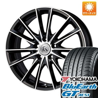 今がお得! 送料無料 215/45R17 17インチ サマータイヤ ホイール4本セット TECHNOPIA テクノピア カシーナ FV-7 7J 7.00-17 YOKOHAMA ブルーアース GT AE51