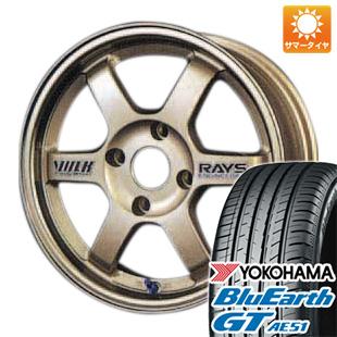 今がお得! 送料無料 175/65R14 14インチ サマータイヤ ホイール4本セット RAYS レイズ VOLK TE37 6J 6.00-14 YOKOHAMA ブルーアース GT AE51