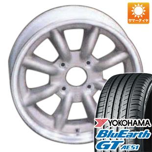 今がお得! 送料無料 155/65R14 14インチ サマータイヤ ホイール4本セット WATANABE ワタナベ エイトスポーク 5J 5.00-14 YOKOHAMA ブルーアース GT AE51