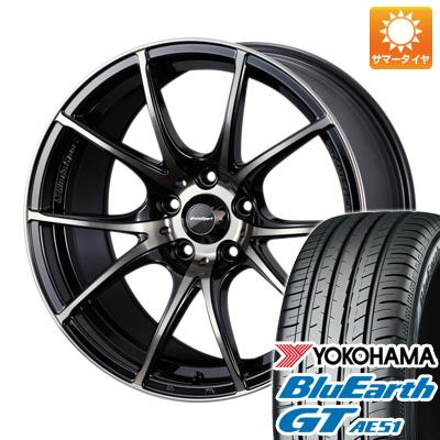 今がお得! 送料無料 205/50R17 17インチ サマータイヤ ホイール4本セット WEDS ウェッズスポーツ SA-10R 7.5J 7.50-17 YOKOHAMA ブルーアース GT AE51