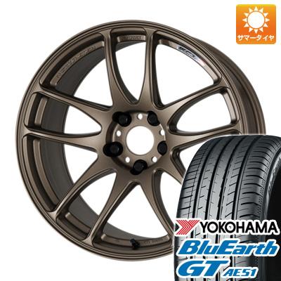 今がお得! 送料無料 225/45R19 19インチ サマータイヤ ホイール4本セット WORK ワーク エモーション CR kiwami 8.5J 8.50-19 YOKOHAMA ブルーアース GT AE51