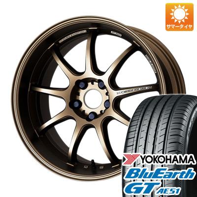 今がお得! 送料無料 225/45R19 19インチ サマータイヤ ホイール4本セット WORK ワーク エモーション D9R 8.5J 8.50-19 YOKOHAMA ブルーアース GT AE51