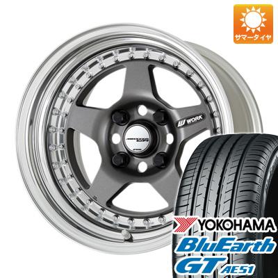 今がお得! 送料無料 185/65R15 15インチ サマータイヤ ホイール4本セット WORK ワーク マイスター CR01 6.5J 6.50-15 YOKOHAMA ブルーアース GT AE51