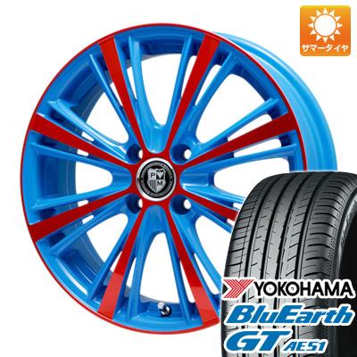 今がお得! 送料無料 195/45R16 16インチ サマータイヤ ホイール4本セット PREMIX プレミックス アマルフィ(ブルー)限定 6.5J 6.50-16 YOKOHAMA ブルーアース GT AE51