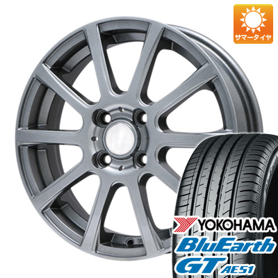 今がお得! 送料無料 155/65R14 14インチ サマータイヤ ホイール4本セット BRANDLE ブランドル 565T 4.5J 4.50-14 YOKOHAMA ブルーアース GT AE51