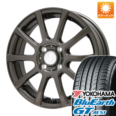 今がお得! 送料無料 175/65R15 15インチ サマータイヤ ホイール4本セット BRANDLE ブランドル 565Z 5.5J 5.50-15 YOKOHAMA ブルーアース GT AE51