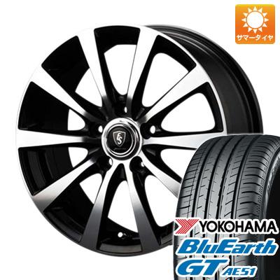 今がお得! 送料無料 215/45R17 17インチ サマータイヤ ホイール4本セット MID ユーロスピード BL-10 7J 7.00-17 YOKOHAMA ブルーアース GT AE51