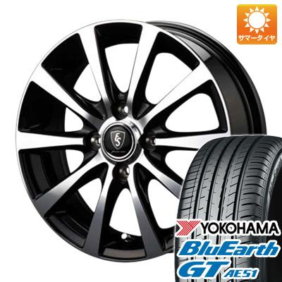 今がお得! 送料無料 155/65R14 14インチ サマータイヤ ホイール4本セット MID ユーロスピード BL-10 4.5J 4.50-14 YOKOHAMA ブルーアース GT AE51