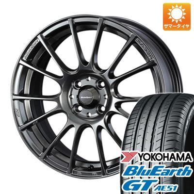 今がお得! 送料無料 185/55R15 15インチ サマータイヤ ホイール4本セット WEDS ウェッズスポーツ SA-72R 6J 6.00-15 YOKOHAMA ブルーアース GT AE51