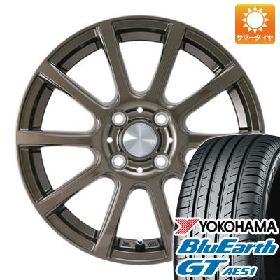 今がお得! 送料無料 175/65R14 14インチ サマータイヤ ホイール4本セット カジュアルセット タイプB17 ブロンズ 5.5J 5.50-14 YOKOHAMA ブルーアース GT AE51