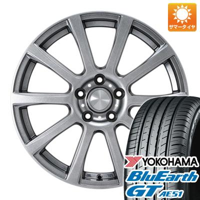 【送料無料】 205/55R17 17インチ カジュアルセット タイプB17 メタリックグレー 7J 7.00-17 YOKOHAMA ヨコハマ ブルーアース GT AE51 サマータイヤ ホイール4本セット