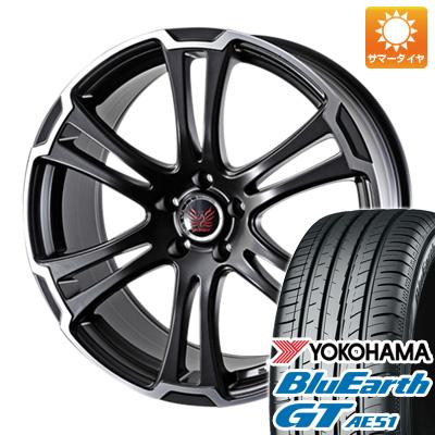 今がお得! 送料無料 225/50R18 18インチ サマータイヤ ホイール4本セット ALGERNON アルジェノン フェニーチェ TW-1 7J 7.00-18 YOKOHAMA ブルーアース GT AE51