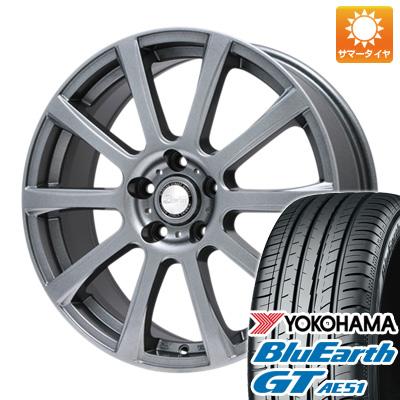 今がお得! 送料無料 225/50R17 17インチ サマータイヤ ホイール4本セット BIGWAY ビッグウエイ B-WIN ISX(メタリックグレー) 7J 7.00-17 YOKOHAMA ブルーアース GT AE51