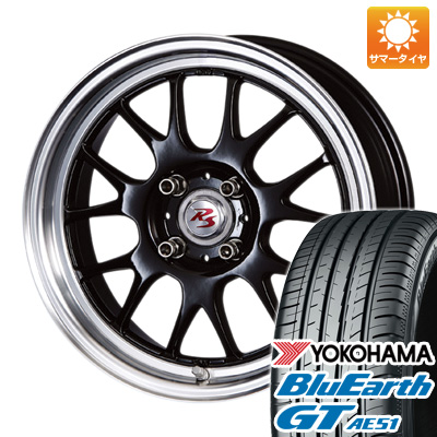 今がお得! 送料無料 165/55R15 15インチ サマータイヤ ホイール4本セット CRIMSON クリムソン RS ST AIRモノブロック 5.5J 5.50-15 YOKOHAMA ブルーアース GT AE51