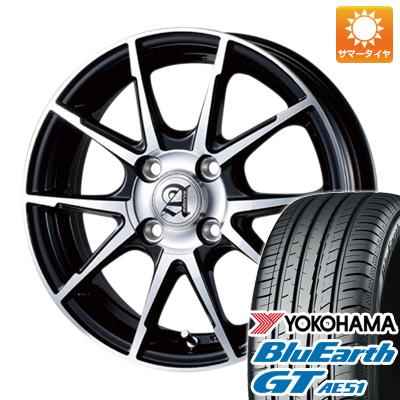 今がお得! 送料無料 155/65R14 14インチ サマータイヤ ホイール4本セット TECHNOPIA テクノピア アドニス JXS 4.5J 4.50-14 YOKOHAMA ブルーアース GT AE51
