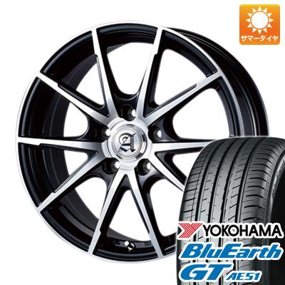今がお得! 送料無料 225/40R18 18インチ サマータイヤ ホイール4本セット TECHNOPIA テクノピア アドニス JXS 7.5J 7.50-18 YOKOHAMA ブルーアース GT AE51